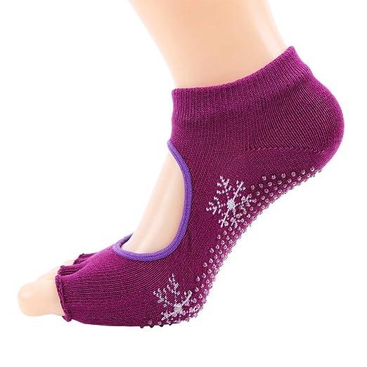 Calcetines de yoga Damas antideslizantes Yoga Calcetines de ...