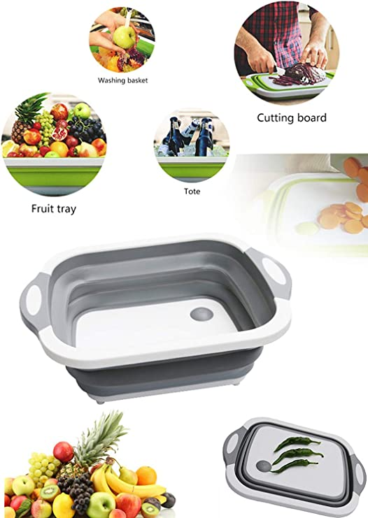 Plastic Cutting Board Portable Food Slicing Chopping Board Outdoor Cookware