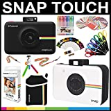 Polaroid Snap Touch Instant Camera Gift Bundle + ZINK Paper (30 Sheets) + Snap Themed Scrapbook + Pouch + 6 Edged Scissors + 100 Sticker Border Frames + Gel Pens + Hanging Frames + Accessories