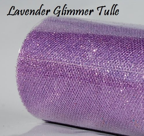 e Roll 6in x 30ft LAVENDER Sparkling Tulle (10 yards) (Wedding Tulle Roll)
