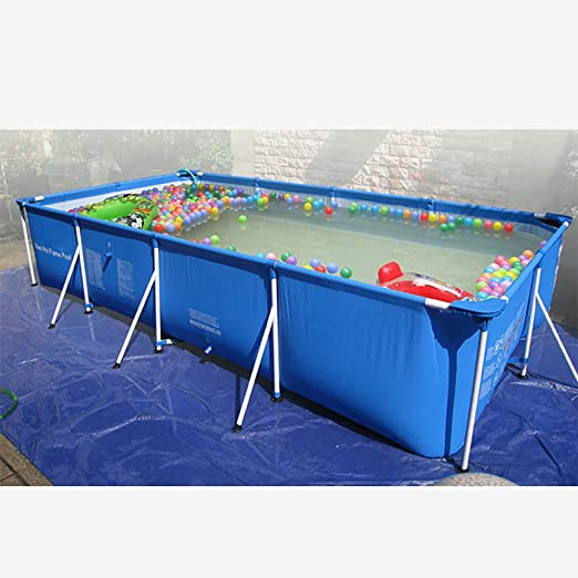 Lili Piscina Infantil Piscina De PVC Piscina Familiar Rectangular Piscina Desmontable Tubular Ideal para NiñOs/Adulto con Estructura De Acero,260×160×65cm/8.53×5.24×2.13ft: Amazon.es: Hogar