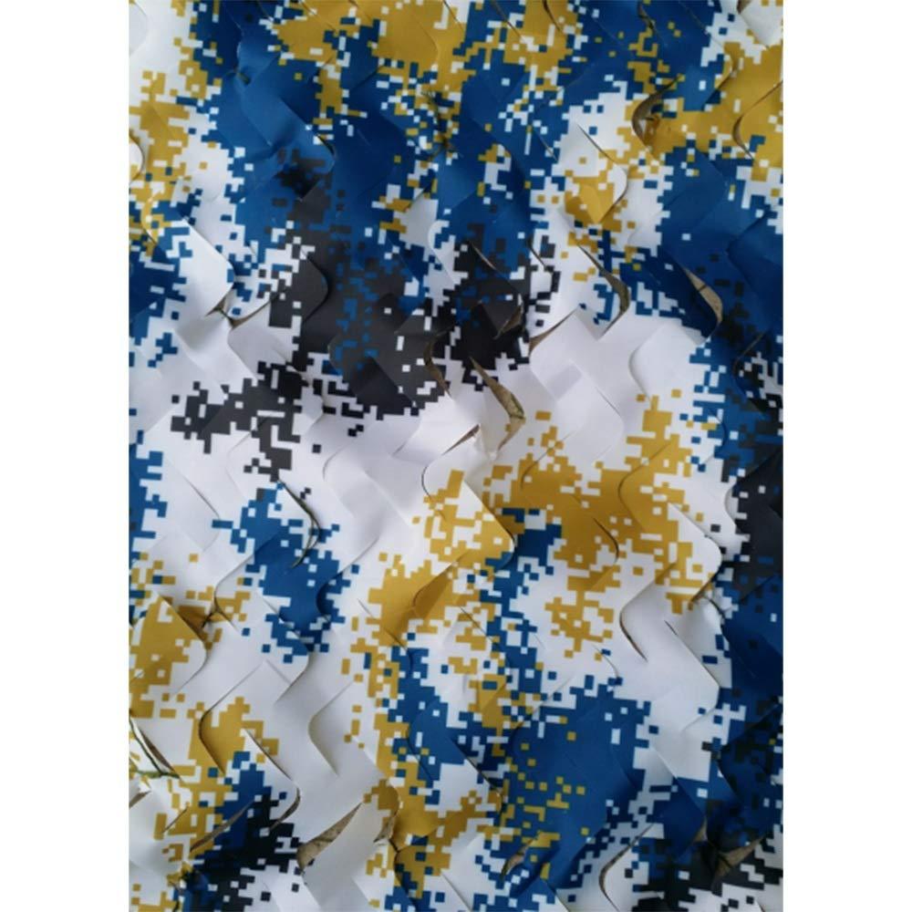 2x3m Chunlan 210D Polyester Oxford Numérique Camouflage Marin Filet De Camouflage Taux D'ombrage 85% étanche Anti-UV Balcon Filet D'ombrage Décoration (Taille   4X4m)