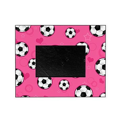 Amazon.com - CafePress - Cute Soccer Ball Print - Pink - Decorative ...