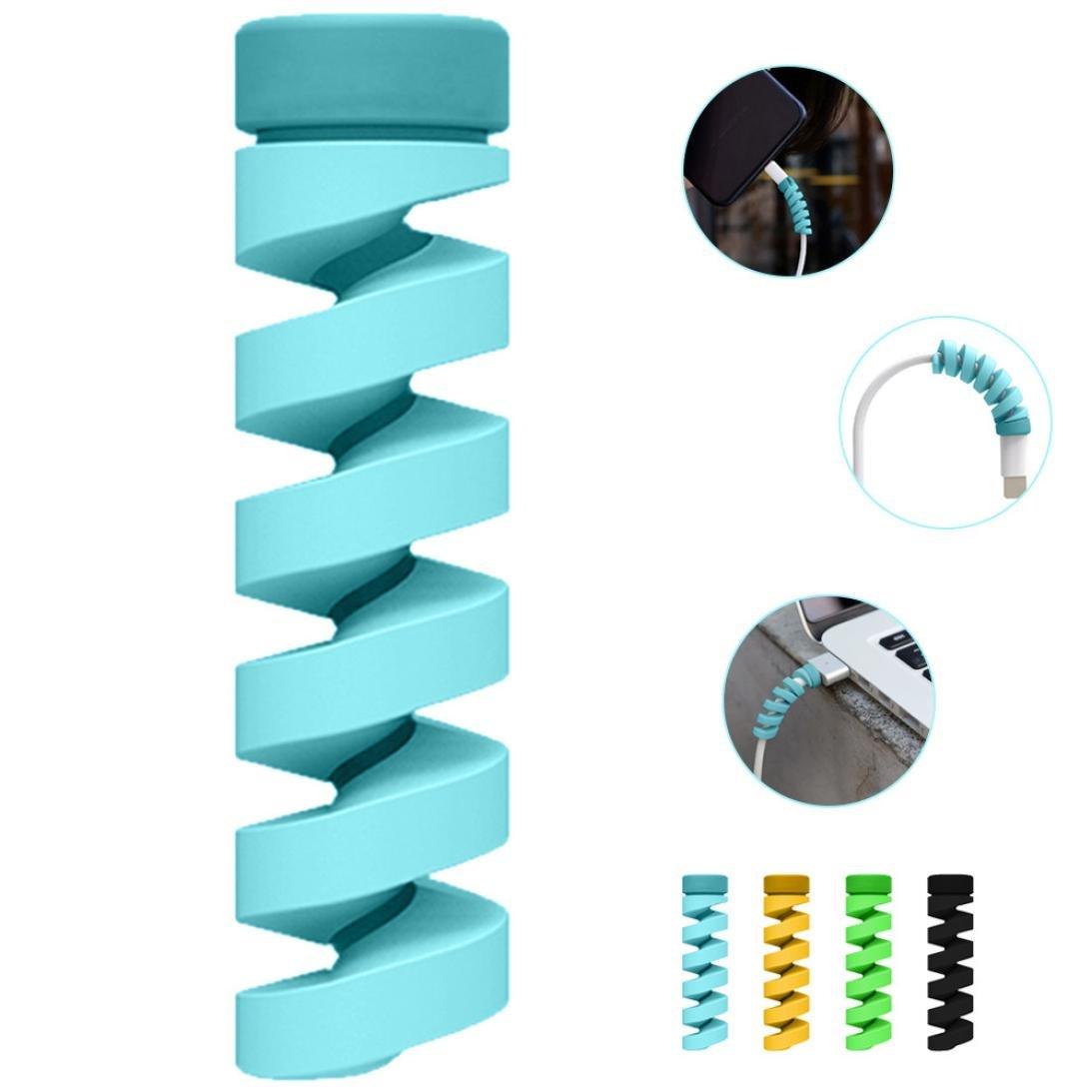 ... Cable Saver Protectores De Alivio De TensióN Spiral Wrap En Universal para MóVil/Auricular/Cable De Datos (Talla única, Azul): Amazon.es: Electrónica
