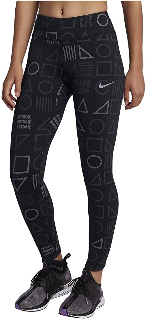 Nike Womens Lux Flash Reflective Printed Running Tights