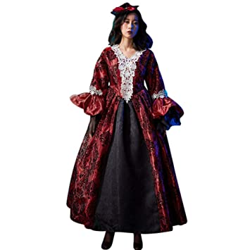 QAQBDBCKL Traje Medieval de época Cosplay Traje Moda Mujer ...