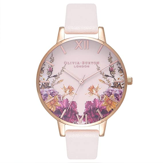 Olivia Burton Reloj Analógico para Mujer de Cuarzo con Correa en Cuero OB16EG81