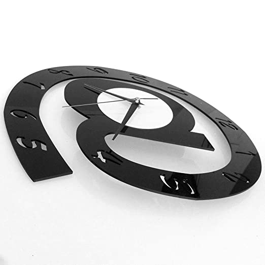 Amazon.com: Wall Clock - Letter Shape 3d Digital Wall Clock Decor Big Silent Acrylic Home - Art Powered Joy Diy Set Dark 12 Bronze Numerals Indian: Home ...
