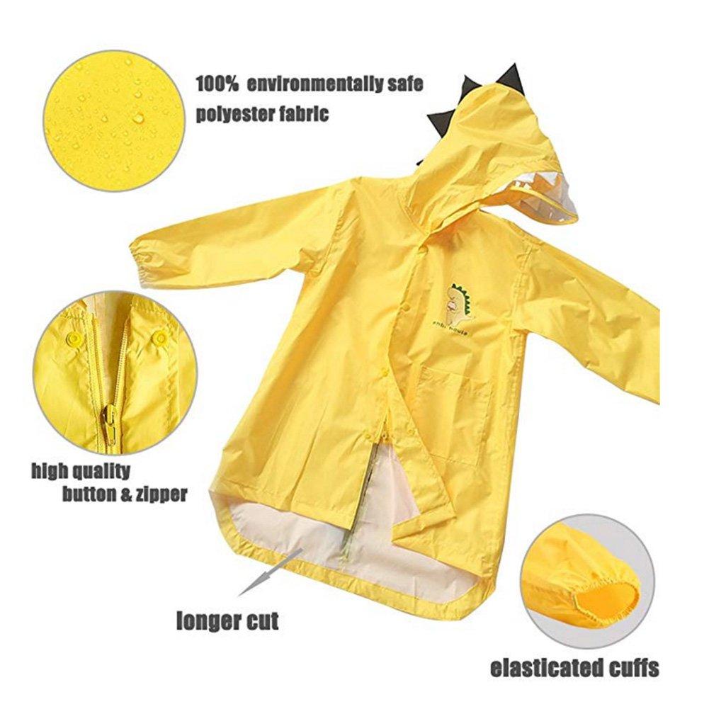 BIEE Raincoat for Kids Rain Jacket Impermeabile Portatile Unisex Snow Coat EVA allaperto Poncho Rainwear Poncho Rainwear
