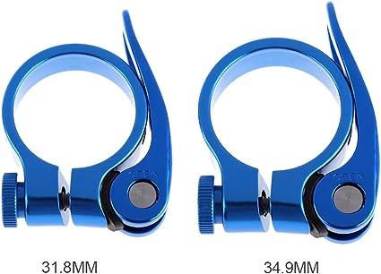 Tige de Selle Clamp 5/Couleurs 34,9/mm Rapide Lib/ération Collier de Serrage en Alliage daluminium pour VTT V/élo de Route