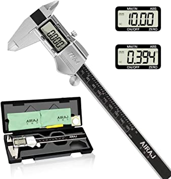 """Caliper Digital Stainless Steel Electronic LCD Micrometer Measuring 0-6/""""//150mm"""