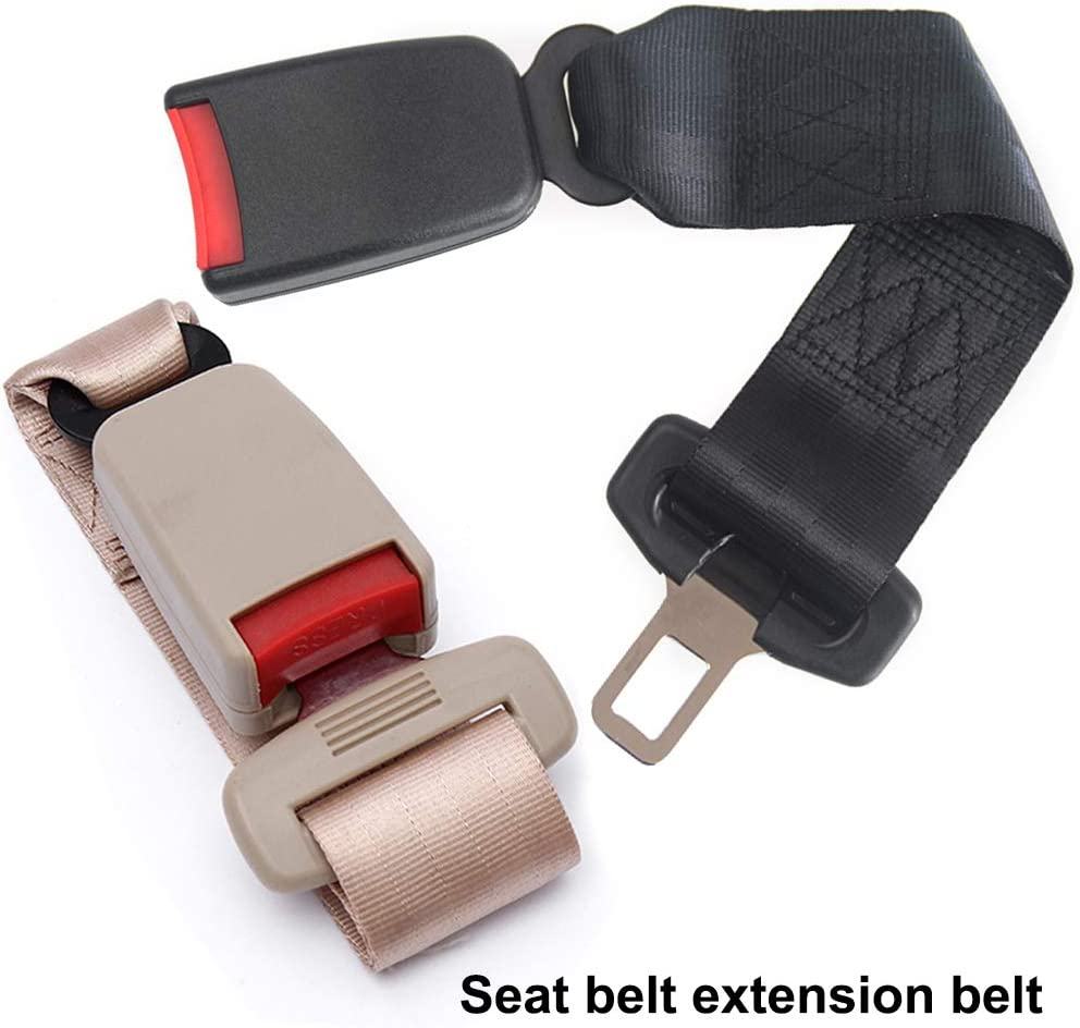 1pcs, Grey Adjustable Seat Belt Extenders Vehicle Specific Belt Extension Safety Certified Retractable Seat Belt Extension