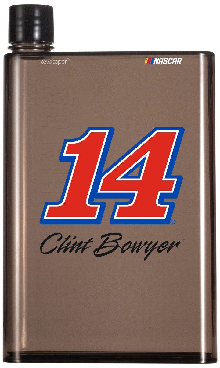 NASCAR 14オンスa5煙フラット水ボトルby Keyscaperで数 B06XHVYC3V Clint Bowyer