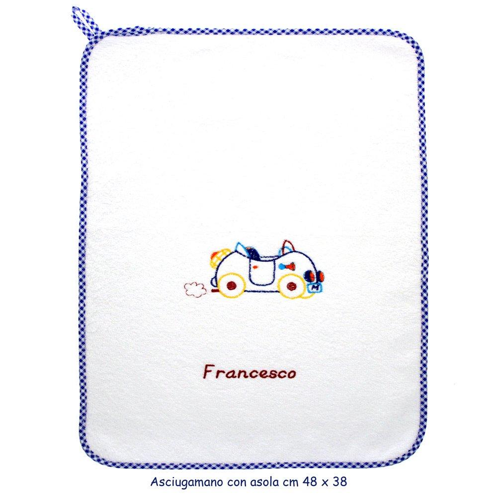 coccole- toalla con Asola Scuola Materna y guardería nido-macchina Azul - azul - 3 - 5 años - con nombre personalizado para Scuola Materna: Amazon.es: Bebé
