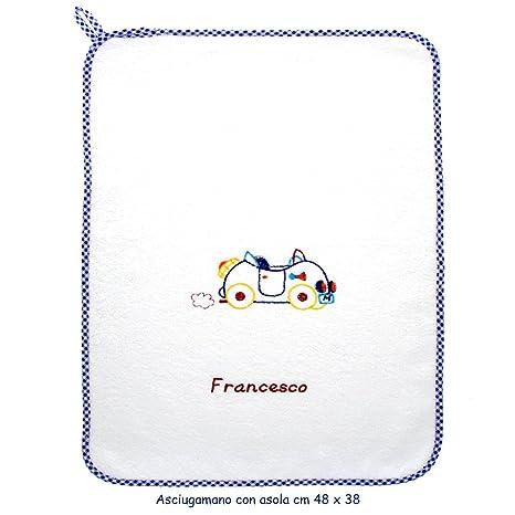 coccole- toalla con Asola Scuola Materna y guardería nido-macchina Azul – azul –