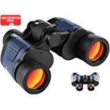 60x60 High Power Binoculars for Adults BAK4 Prism FMC Lens HD Professional Waterproof Binoculars for Travel