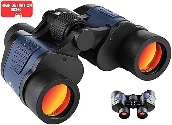 60x60 High Power Binoculars for Adults BAK4 Prism FMC Lens HD Professional Waterproof Binoculars for Travel