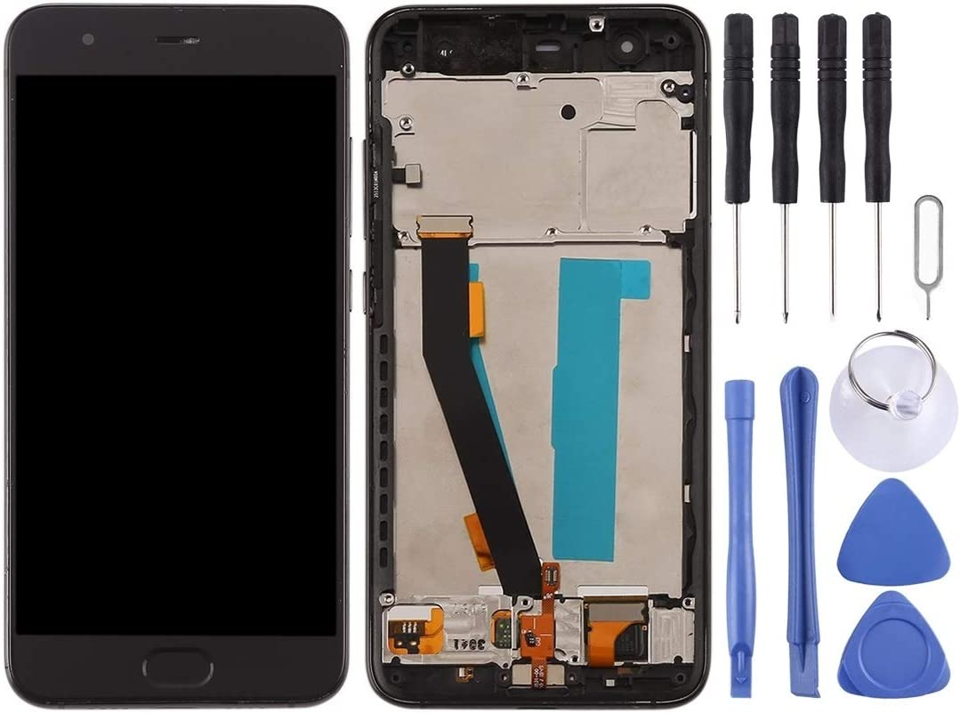 Color : Black LCD Screen Mobile Phone and Digitizer Full Assembly with Frame for Xiaomi Mi 6 Black