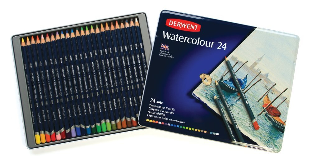 Derwent Watercolour Pencils 24 Tin NEW /& IMPROVED