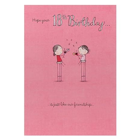 Amazon.com: Hallmark – Tarjeta de cumpleaños 18 para ella ...