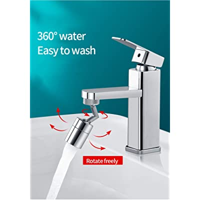 2 Modes Adjustment,Convenient to Wash Your Face and Gargle, Faucet Extender Sprayer Sink Spray Universal Splash Filter Faucet, 720/° Rotating Faucet Nozzle