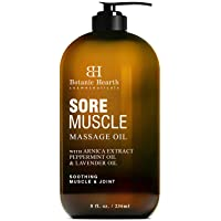 BOTANIC HEARTH Sore Muscle Massage Oil - with Arnica Montana Extract and Essential...