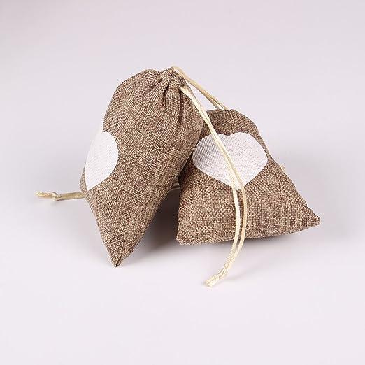 Amazon.com: Advantez - Bolsas de yute natural para regalo ...