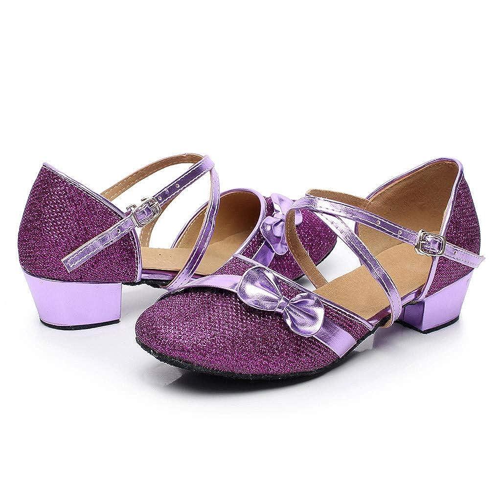 Sandales Ceremonie Fille WINJIN Chaussure /à Talon Enfant Ballerine Princesse Paillettes Bownot pour Mariage D/éguisement Soiree Chaussures pour Filles Enfants