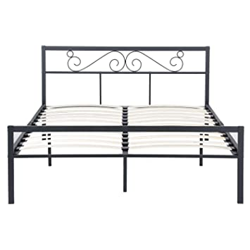 Amazoncom Greenforest Queen Bed Frame With Wooden Slats Support