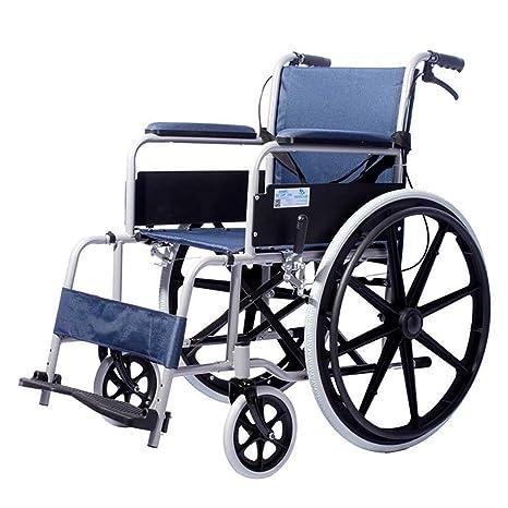DPPAN Drive Medical Transport Silla de ruedas Plegamiento ligero, estructura de tubo de acero que