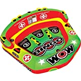 Kyпить WOW World of Watersports 14-1070 Bingo Inflatable, 1 to 3 Person Secure Cockpit Seating Towable, Front and Back Tow Points на Amazon.com