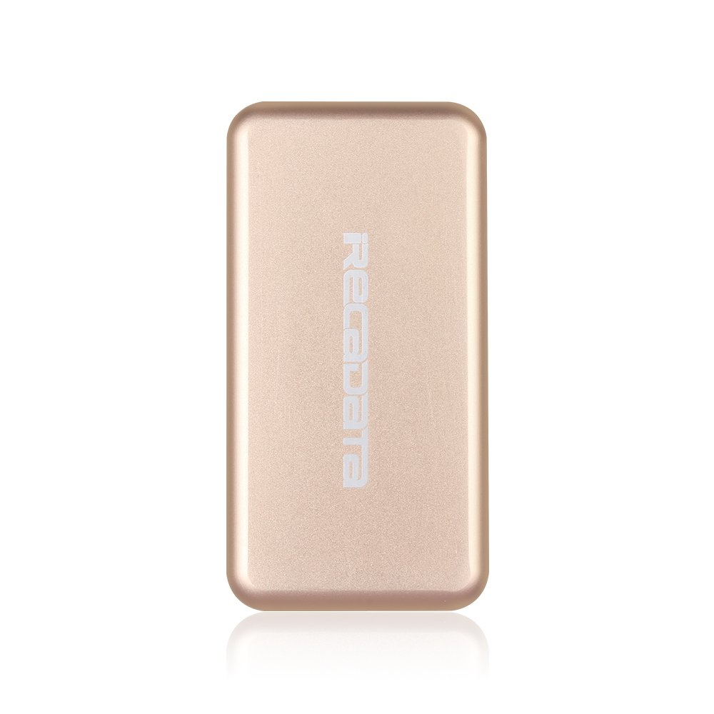 iRecadata M30 Portable SSD Drive, 128G Mini External Solid State Drive with Encryption Function, USB 3.0, mSATA III MLC SSD Built-in, Gold