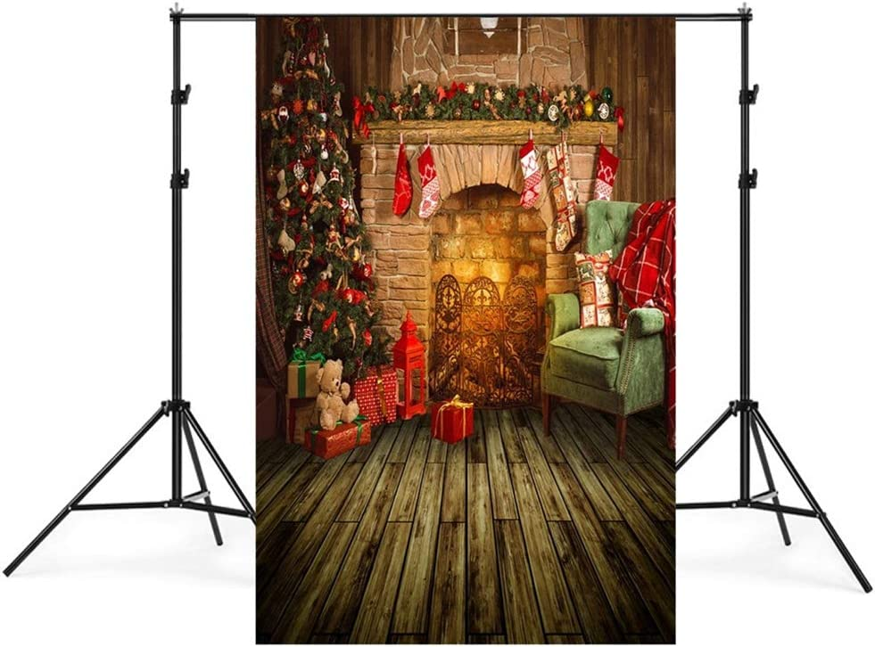 Insun Wall Photo Backdrop Christmas Floor Photography Background Non Reflective for Birthday Anniversary Party Photo 6.5x10ft WxL