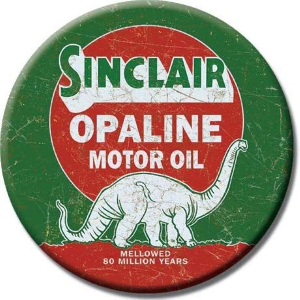"Desperate Enterprises Sinclair Opaline Motor Oil Refrigerator Magnet, 3"" Diameter"