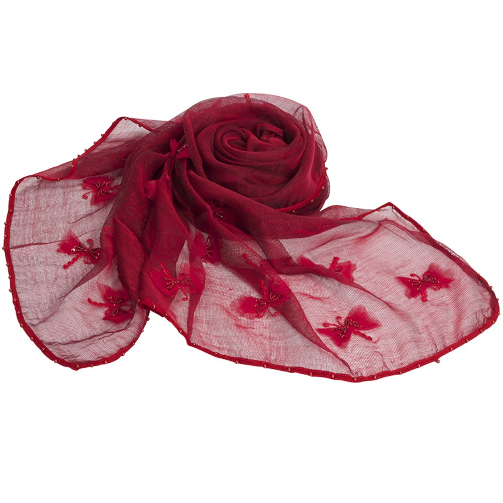 Scarf Shawl Handmade Mulberry silk scarves the winter long Scarf-A One Size