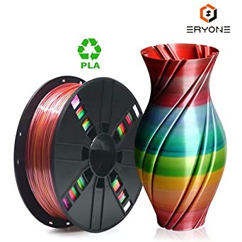 PLA Filament 1.75mm Rainbow Multicolor, ERYONE Multicolor Filament ...