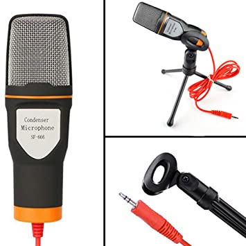 Micrófono de condensador para ordenador, micrófono con soporte de ...