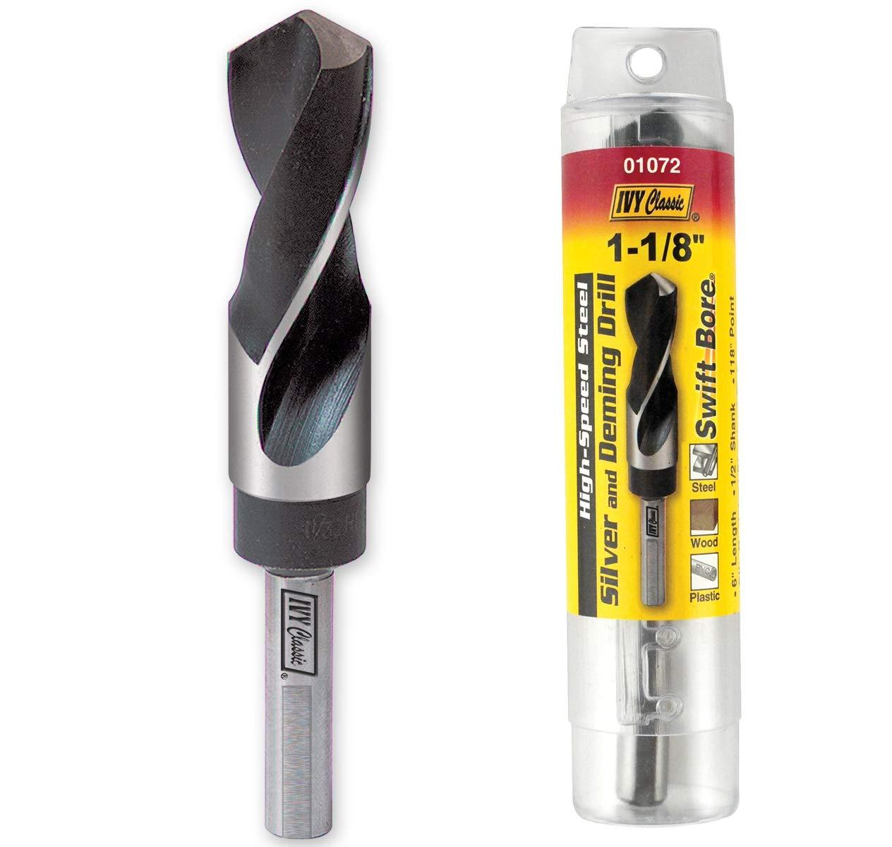 1//2 Shank 1//2 Shank IVY Classic Industries Ivy Classic 01072 1-1//8 x 6 Silver /& Deming Drill Bit