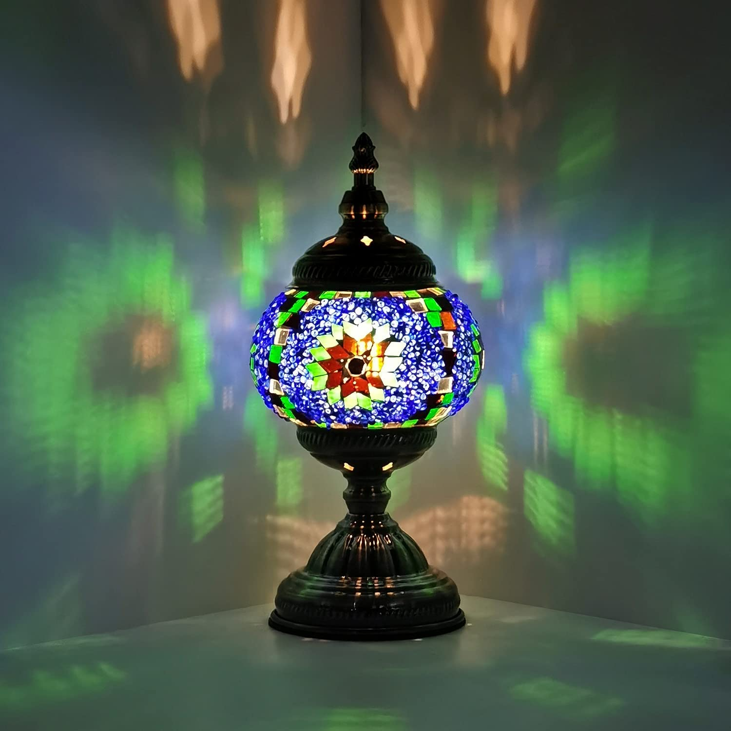 Marrakech Turkish Mosaic Lamp Unique Tiffany Style Decor Lamp Stained Glass Moroccan Lantern Lamp Room Decoration Art Decor Living Room lamp (5)