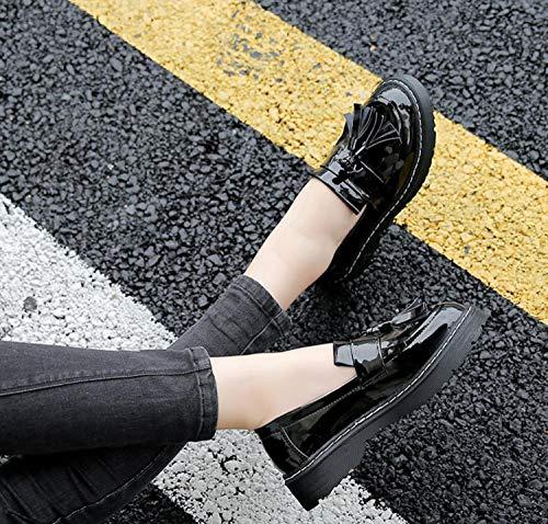 Tassel Scarpe Retro e DANDANJIE Stile Mocassini Inghilterra da Donna Scarpe College Autunno Primavera pwwq0IA