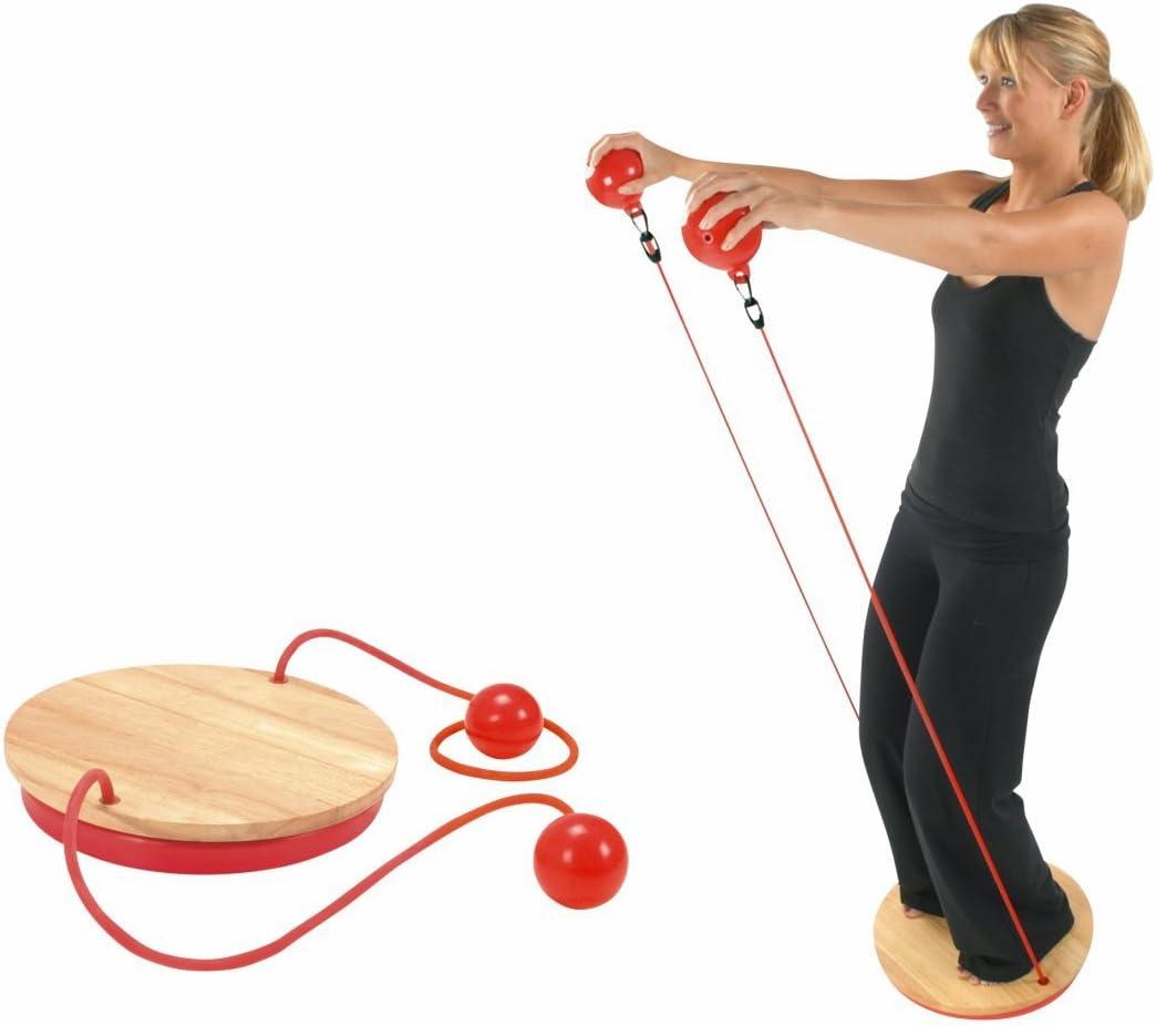 Wackelbrett zum Trainieren von Koordination und Gleichgewicht Ultrasport Balance Board 2in1 zus/ätzlich als Stretching-Trainingsger/ät und Therapie-Kreisel nutzbar