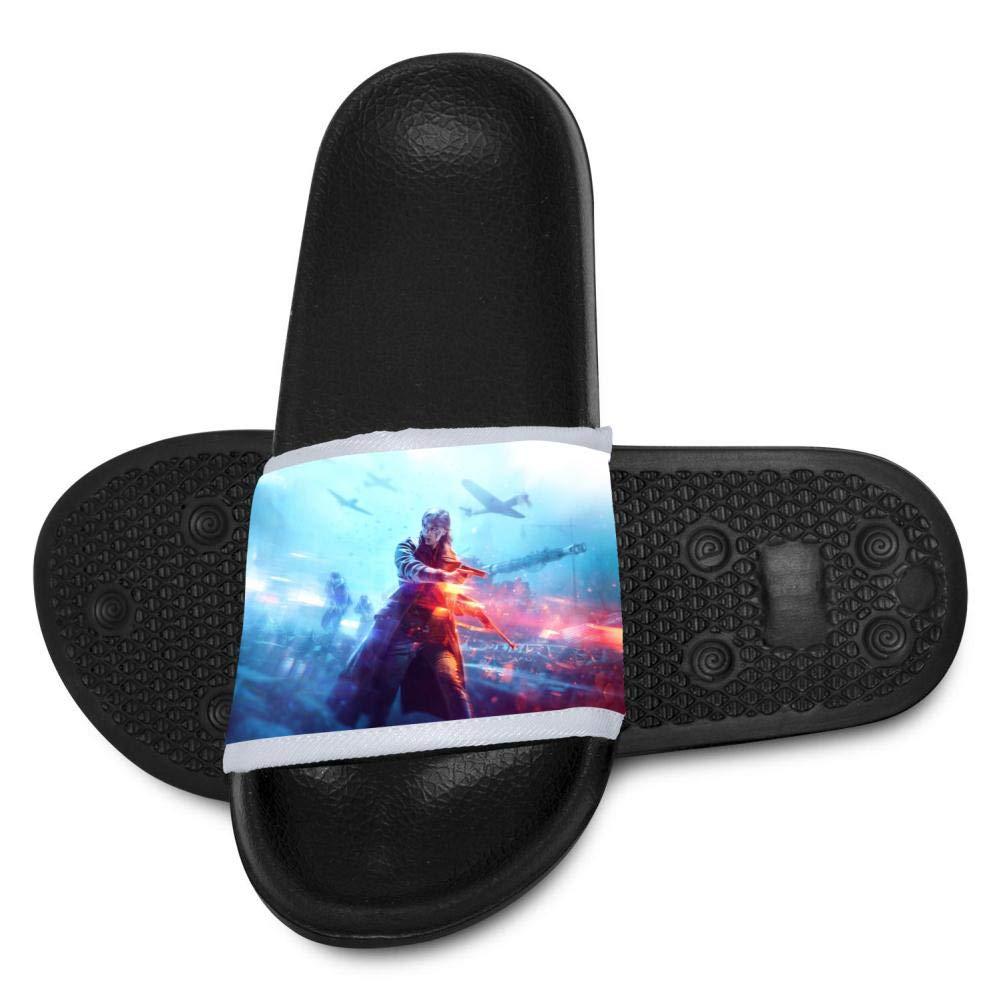 Battle-Field Youth Bath Slipper Anti-Slip for Indoor Home House Sandal 2 B(M)