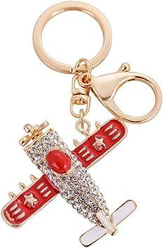 Fashion Model airplane plane Keychain Key Chain Ring Keyring Handbag Decor US