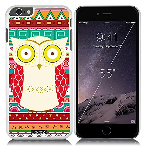 New Apple iPhone 6 s Plus 5.5-inch CocoZ® Case Cute funny owl PC Material Case (White&White PC owl - Qbp Parts