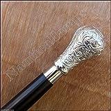 Eve.Store Brass Designer Antique Style Cane Wooden Walking Stick Vintage Nautical Canes