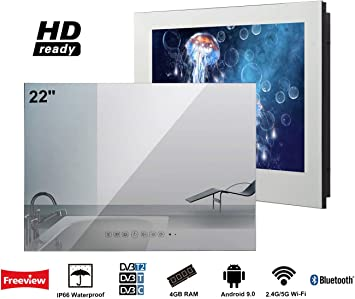 Soulaca innovativtv LED Andriod Smart TV Baño Espejo Frontal 22 Pulgadas Resistente al Agua IP66 con Wi-Fi Incorporado: Amazon.es: Electrónica