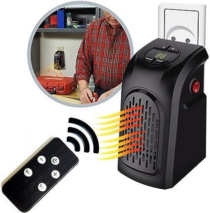 Stufetta elettrica basso consumo con telecomando Stufetta elettrica da bagno e casa da 15/° a 32/° Stufetta elettrica da presa fino a 22 mq
