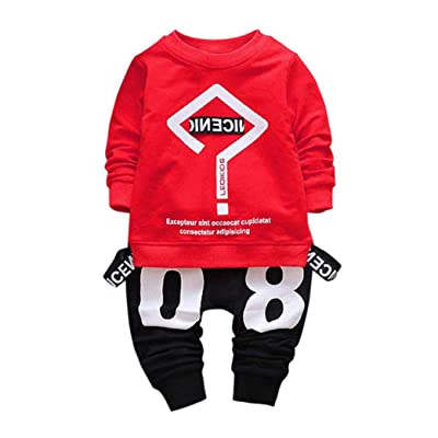 Sunsee Baby Boy Girl Letter Printing Tops+Pants Clothes Set
