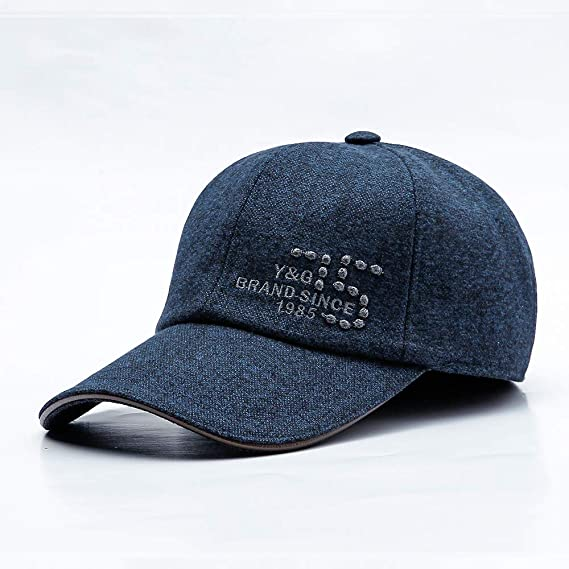 Gorra de béisbol de Fieltro Gruesa de los Hombres Casquillo de ...