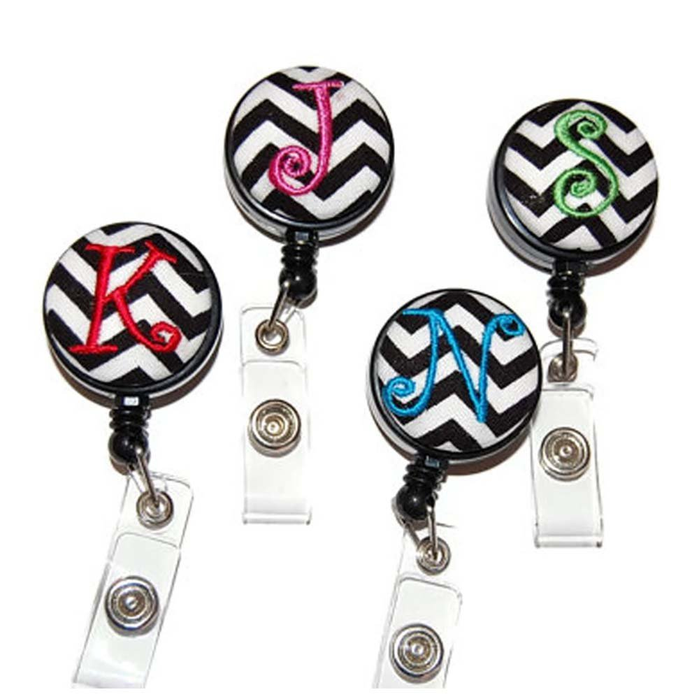 RN CNA Retractable Badge Reel LPN LVN ID Holder Heartbeat Personalized Nurse